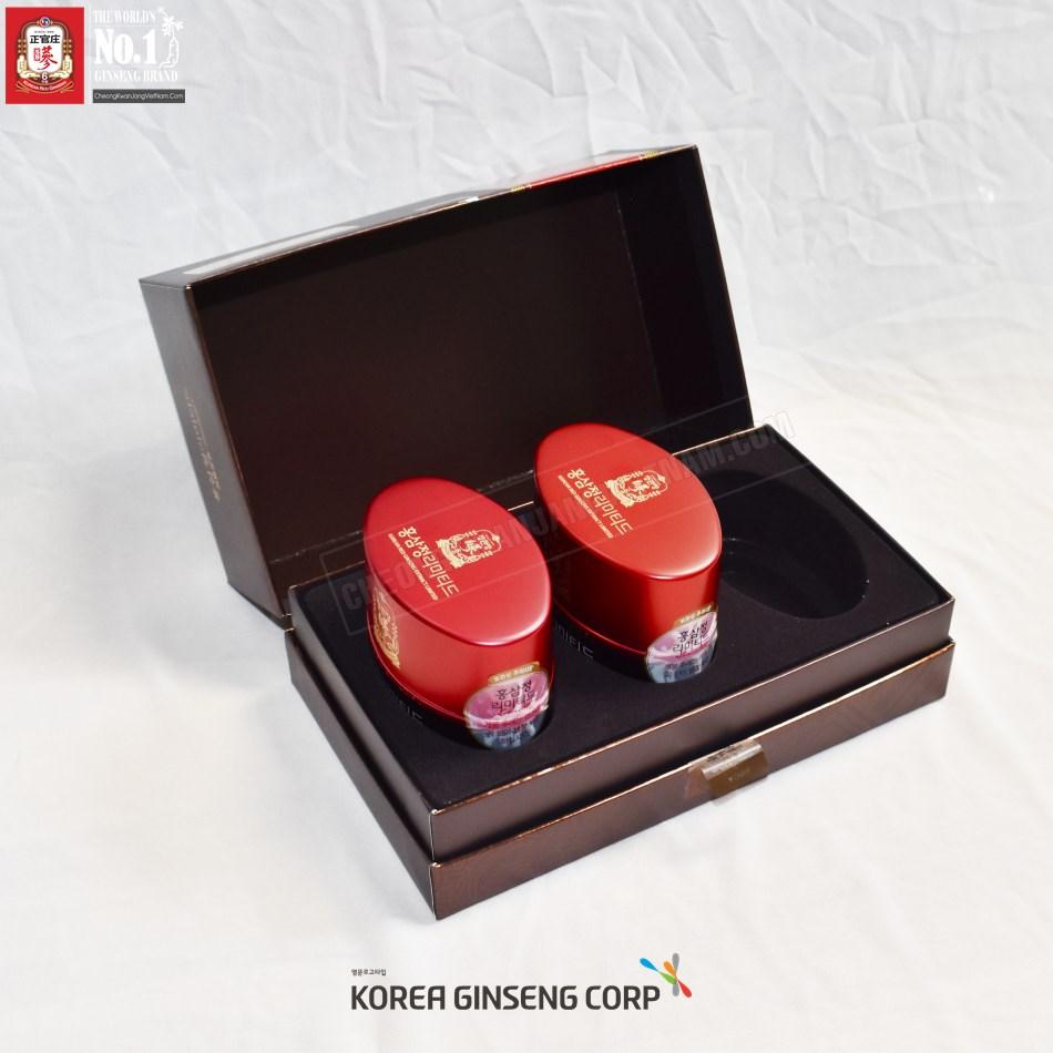 Hình ảnh mặt sau hộp Cao địa sâm Cheong Kwang Jang  Hàn Quốc 100g x 3 lọ